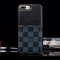 Classic Lattice LV Genuine Leather Back Covers Holster Cases For iPhone 12 Pro Max - Black