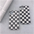 Classic Lattice Skin LV Leather Back Covers Holster Cases For iPhone 12 Pro Max - 08
