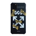Classic Off-White Housing Matte Covers Protective Back Cases For iPhone 12 Pro Max - Black