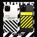 Classic Off-White Shell Matte Covers Protective Back Cases For iPhone 12 Pro Max - Black