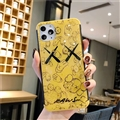 Kaws Mirror Surface Cute Cartoon Cases Casing For iPhone 12 Pro Max Silicone Soft Covers - Yellow