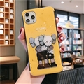 Kaws Mirror Surface Cute Cartoon Cases Shell For iPhone 12 Pro Max Silicone Soft Covers - Yellow