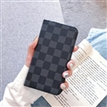 LV Lattice 3M Flip Leather Cases Cover Book Genuine Holster Shell For iPhone 12 Pro Max - Blue