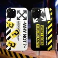New Off-White Shell Matte Covers Protective Back Cases For iPhone 12 Pro Max - Black