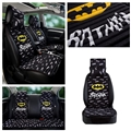 Beautiful Flax Batman Polyester Car Seat Covers Universal Pads Seat Cushions 10pcs - Black