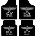 Boy London Flooring Automotive Carpet Car Floor Mats Velvet 4pcs Sets - Black