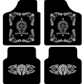 Chrome Hearts Flooring Automotive Carpet Car Floor Mats Velvet 4pcs Sets - Black