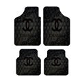 Classical Chanel Genenal Automotive Carpet Car Floor Mats Velvet 4pcs Sets - Black