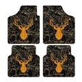 Classical Deer Head Genenal Automotive Carpet Car Floor Mats Velvet 4pcs Sets - Yellow