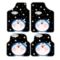 Classical Doraemon Genenal Automotive Carpet Car Floor Mats Velvet 4pcs Sets - Black 02