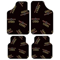 Classical Gucci Genenal Automotive Carpet Car Floor Mats Velvet 4pcs Sets - Black
