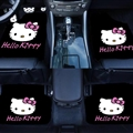Classical Hello Kitty Genenal Automotive Carpet Car Floor Mats Velvet 4pcs Sets - Pink 02