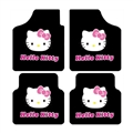 Classical Hello Kitty Genenal Automotive Carpet Car Floor Mats Velvet 4pcs Sets - Pink