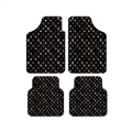 Classical LV Genenal Automotive Carpet Car Floor Mats Velvet 4pcs Sets - Black Multicolour