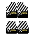 Classical Off-White Genenal Automotive Carpet Car Floor Mats Velvet 4pcs Sets - Black White