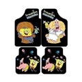 Classical Spongebob Genenal Automotive Carpet Car Floor Mats Velvet 4pcs Sets - Black