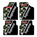 Classical Supreme Genenal Automotive Carpet Car Floor Mats Velvet 4pcs Sets - Green