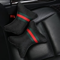 Cool Gucci Automobile 2pcs Polyester Car Neck Pillows Support Headrest - Black