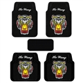 Cool Tiger Genenal Automotive Carpet Car Floor Mats Rubber 5pcs Sets - Black