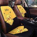 Cute Pokemon Plush Fabric Auto Cushion Universal Car Seat Covers 7pcs - Black Yellow