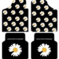 Daisy Flooring Automotive Carpet Car Floor Mats Velvet 4pcs Sets - Black