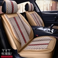 Funky Leather GUCCI Car Seat Covers Universal Pads Automobile Seat Cushions 6pcs - Beige