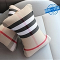 Luxury Burberry 2pcs Polyester Universal Car Neck Pillows Support Headrest - Beige