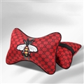 Luxury Gucci Honeybee 2pcs Polyester Car Neck Pillows Support Headrest - Red