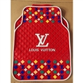 Pretty LV Genenal Automotive Carpet Car Floor Mats Rubber 5pcs Sets - Red