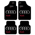 Unique Audi Genenal Automotive Carpet Car Floor Mats Velvet 4pcs Sets - Black