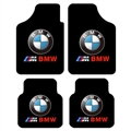 Unique BMW Genenal Automotive Carpet Car Floor Mats Velvet 4pcs Sets - Black