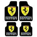 Unique Ferrari Genenal Automotive Carpet Car Floor Mats Velvet 4pcs Sets - Yellow