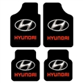 Unique Hyundai Genenal Automotive Carpet Car Floor Mats Velvet 4pcs Sets - Black