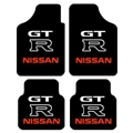Unique Nissan-GT-R Genenal Automotive Carpet Car Floor Mats Velvet 4pcs Sets - Black