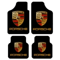 Unique Porsches Genenal Automotive Carpet Car Floor Mats Velvet 4pcs Sets - Black