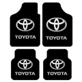 Unique Toyota Genenal Automotive Carpet Car Floor Mats Velvet 4pcs Sets - Black