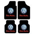 Unique VW Volkswagen Genenal Automotive Carpet Car Floor Mats Velvet 4pcs Sets - Black